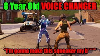 I Pretended To Be 8 YRS OLD In Playground Then DESTROYED BULLY - Fortnite Voice Changer