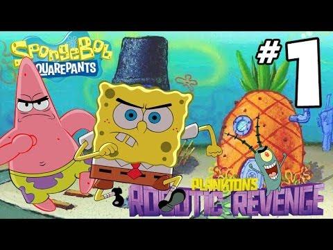 SpongeBob SquarePants Plankton s Robotic Revenge Gameplay Walkthrough PART 1 Squidward