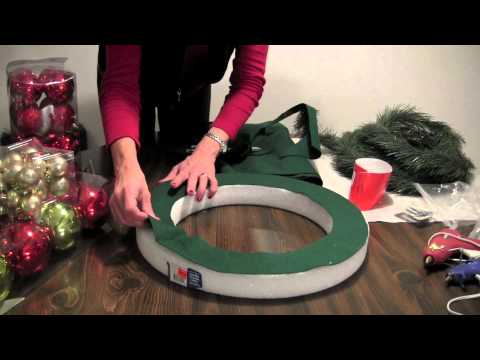 How To Christmas Ball Wreath