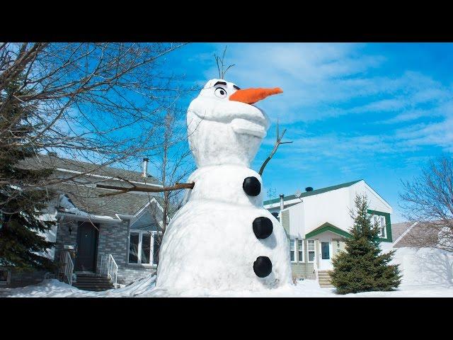 Building a Giant Olaf