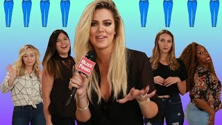 People Try Khloé Kardashian's Jeans