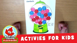Gumball Activity for Kids | Maple Leaf Learning Playhouse