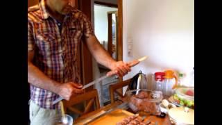 طریقه سیخ کردن کباب کوبیده