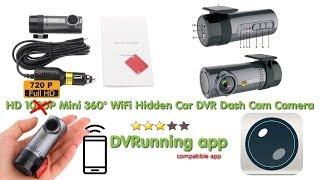 HD 1080P Mini 360° WiFi Hidden Car DVR Dash-Cam review tutorial