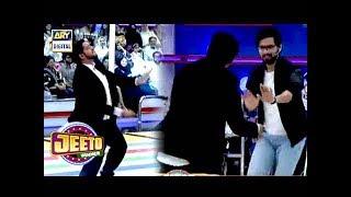 """Dance steps Dekh Kar """" Fahad Mustafa """" Bhi Set Per Aagay"""