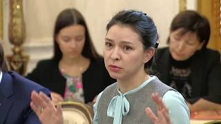 Putin Talks With A Young Mother About Her Career Prospects