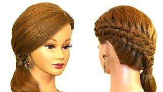 Braided Hairstyle for Medium Long Hair Tutorial