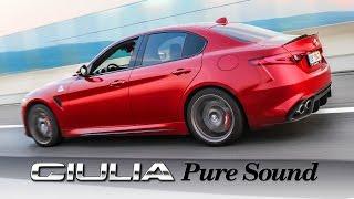 PURE SOUND: Alfa Romeo Giulia Quadrifoglio - powerslide, wheelspin, hard driven, acceleration