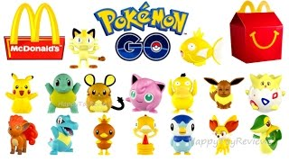 2016 McDONALD'S POKEMON GO HAPPY MEAL TOYS COMPLETE SET 16 GENERATION 6 COLLECTION UNBOXING EUROPE