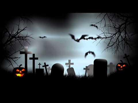 Halloween Graveyard Background After Effects Template