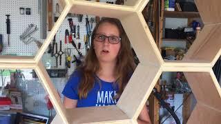 Alli Makes: Honeycomb Shelves