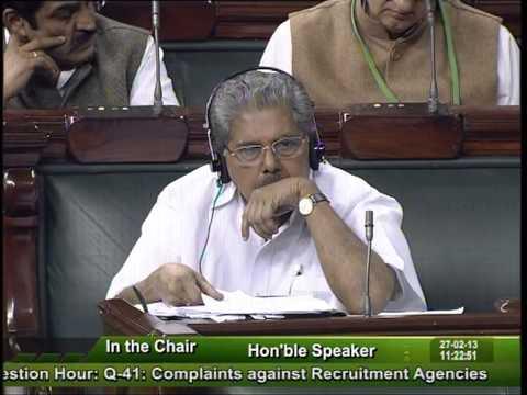 Question Hour Q-41: Complaints against Recruitment Agencies: Sh. Hukmdev Narayan Yadav: 27.02.2013