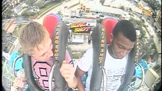 Funniest slingshot video ever boy faints 3 times