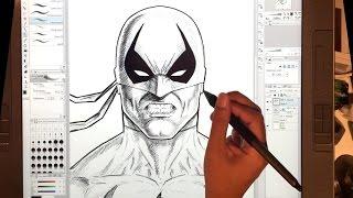 Drawing Iron Fist with Clip Studio Paint on a Wacom Cintiq