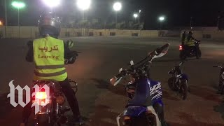 Watch: Women in Saudi Arabia ride motorcycles for the first time