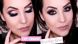 Maquiagem Cut Crease Gliterinada - Rosa Quartzo