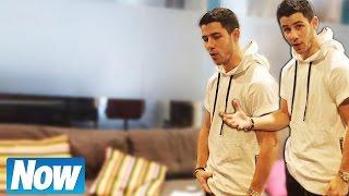 Nick Jonas crotch grab tutorial with Now Magazine!