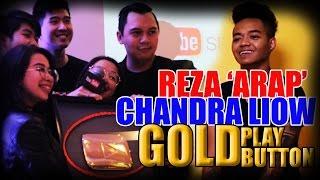Reza Arap dan Chandra Liow Dapat GOLD PLAY BUTTON Youtube Space Jakarta