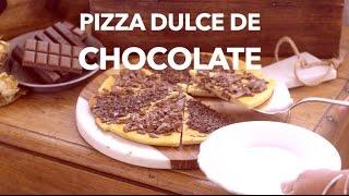 Pizza dulce de choclate