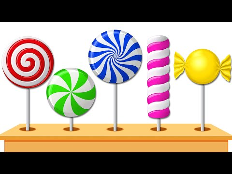Xxx Mp4 Yummy Lollipops Candies Colored For Children To Learn By KidsCamp 3gp Sex