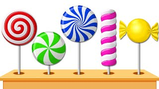 Learn Colors with 3D Lollipop Candy Lollipops Coloring Machine Colors for Kids Wooden Toys KidsCamp