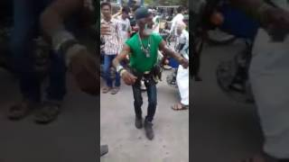 Cricket lovers dance