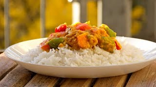 Indian Bell Pepper Curry Recipe - Shimla Mirch Masala - Vegan Vegetarian
