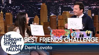 Best Friends Challenge with Demi Lovato