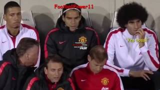 FUNNY!!! Louis Van Gaal talking with Fellaini on bench during the match