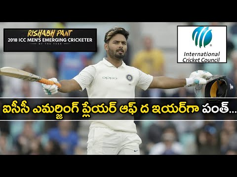 Xxx Mp4 Rishabh Pant Named ICC's Emerging Player Of The Year 2018 Oneindia Telugu 3gp Sex