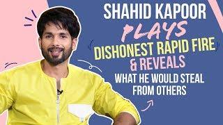 Shahid Kapoor reveals what he would STEAL from SRK, Salman, Ranveer| Kabir Singh| Mere Sohneya
