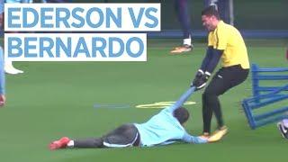 EDERSON VS BERNARDO SILVA | Man City vs Shakhtar Donetsk | Champions League Training