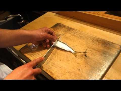 Japanese Knife (HOUCHOU) Skill. Little Fish Ver.@SUSHI BAR