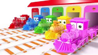 appMink School Bus | Fire Truck | Police Cars | Steam Train | monster trucks ESL video for kids