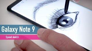 Samsung Galaxy Note 9 speed sketching