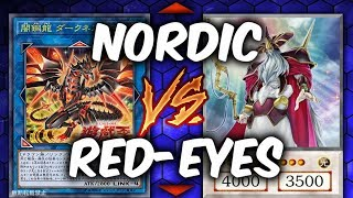 NEW DRAGONS! RED-EYES vs NORDIC (Yu-gi-oh God Card Deck Duel!)