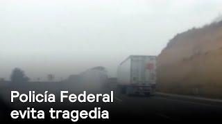 Policía Federal evita accidente de tráiler sin frenos en la México-Puebla - Despierta con Loret