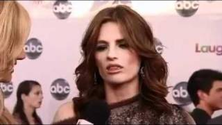 Castle- Season 3 - Stana Katic  Interview on Red Carpet