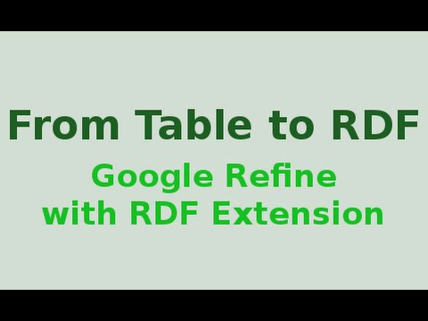 Xxx Mp4 Google Refine With RDF Extension From Table To RDF 3gp Sex