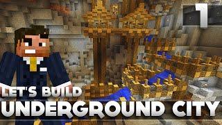 Minecraft - Advanced Underground City/Base Tutorial Let's Build Part 1 Xbox 360/PC/PS3