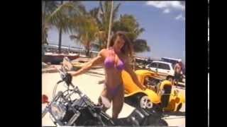 Denise Hoshor and the yellow Hot Rod