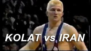 Cary Kolat vs Iran from KOLAT.COM Wrestling Techniques Moves Instruction