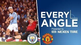 SERGIO SCREAMER IN THE DERBY   Every Angle   Aguero vs Man Utd