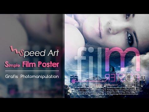 Xxx Mp4 Speed Art Membuat Poster Film Simple Di PS 3gp Sex
