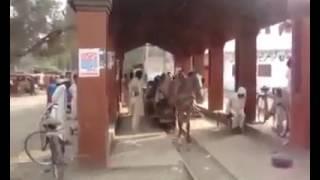 Pakistan horse ride on railway track
