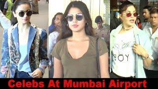 Alia Bhatt & Jacqueline Spotted at Mumbai Airport