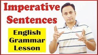 Imperative sentences (आज्ञासूचक वाक्य) in English Grammar | Concept, Use & Examples in Hindi
