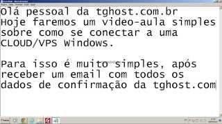 Como se conectar a um VPS WINDOWS - TGHost.com.br