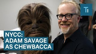 Watch Adam Savage go undercover as Chewbacca at New York Comic Con