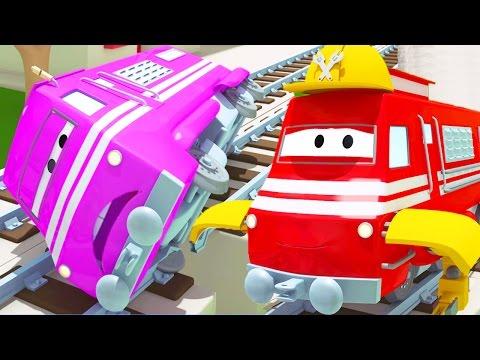 Troy der Zug und Die Rettung Der Rennwagen Tyler in Car City   Auto & Lastwagen Cartoons für Kinder